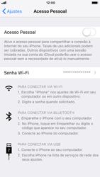 Como usar seu aparelho como um roteador de rede Wi-Fi - Apple iPhone 7 - Passo 5