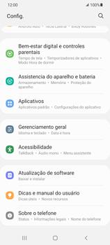 Como encontrar o número de IMEI do seu aparelho - Samsung Galaxy S21 Ultra 5G - Passo 3