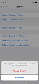Como restaurar as configurações originais do seu aparelho - Apple iPhone X - Passo 6