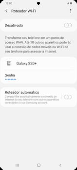 Como usar seu aparelho como um roteador de rede Wi-Fi - Samsung Galaxy S20 Plus 5G - Passo 6
