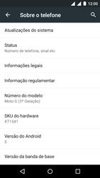 Como encontrar o número de IMEI do seu aparelho - Motorola Moto G (3ª Geração) - Passo 4