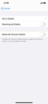 Como ativar e desativar o roaming de dados - Apple iPhone X - Passo 4