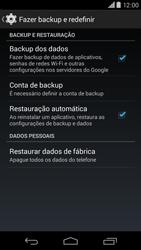 Como restaurar as configurações originais do seu aparelho - Motorola Moto X (2ª Geração) - Passo 5