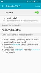 Como usar seu aparelho como um roteador de rede Wi-Fi - Samsung Galaxy S6 - Passo 11