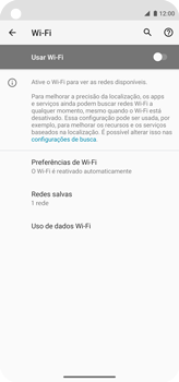 Como configurar uma rede Wi-Fi - Motorola Moto G8 Power - Passo 5