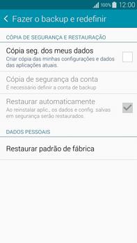Como restaurar as configurações originais do seu aparelho - Samsung Galaxy Note - Passo 5