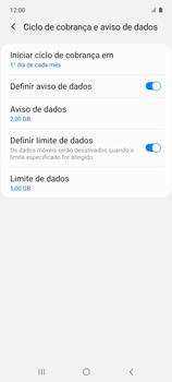 Como definir um aviso e limite de uso de dados - Samsung Galaxy A51 - Passo 12