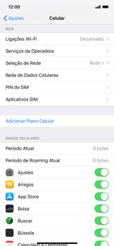 Como definir um aviso e limite de uso de dados - Apple iPhone XR - Passo 3