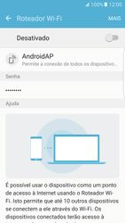 Como usar seu aparelho como um roteador de rede Wi-Fi - Samsung Galaxy S7 Edge - Passo 6