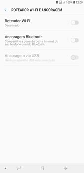 Como usar seu aparelho como um roteador de rede Wi-Fi - Samsung Galaxy J4+ - Passo 5