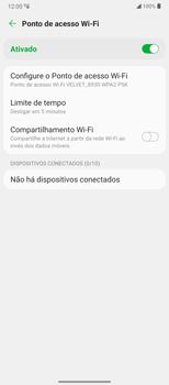 Como usar seu aparelho como um roteador de rede Wi-Fi - LG Velvet 5G - Passo 11