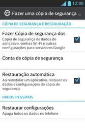 Como restaurar as configurações originais do seu aparelho - LG Optimus L5 - Passo 5