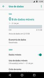 Como ativar e desativar uma rede de dados - Motorola Moto X4 - Passo 4