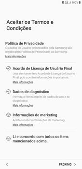 Como configurar pela primeira vez - Samsung Galaxy J4+ - Passo 8