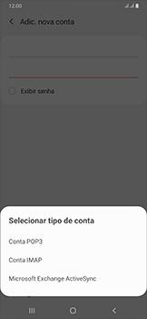 Como configurar seu celular para receber e enviar e-mails - Samsung Galaxy A50 - Passo 9