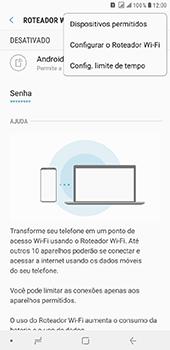 Como usar seu aparelho como um roteador de rede Wi-Fi - Samsung Galaxy J8 - Passo 7