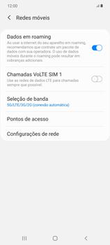 Como ativar e desativar o roaming de dados - Samsung Galaxy Note 20 5G - Passo 6