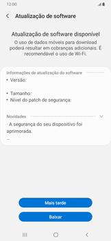 Como atualizar o software do seu aparelho - Samsung Galaxy A20 - Passo 7