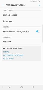 Como restaurar as configurações originais do seu aparelho - Samsung Galaxy S9 Plus - Passo 5