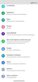 Como encontrar o número de IMEI do seu aparelho - Motorola Moto G8 Power - Passo 3