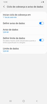 Como definir um aviso e limite de uso de dados - Samsung Galaxy S20 Plus 5G - Passo 12
