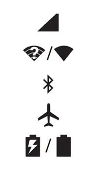 Explicação dos ícones - Motorola Moto G (4ª Geração) - Passo 1