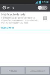 Como configurar uma rede Wi-Fi - LG Optimus L5 - Passo 4