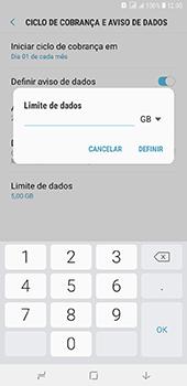 Como definir um aviso e limite de uso de dados - Samsung Galaxy J8 - Passo 13