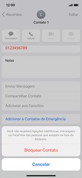 Como bloquear chamadas de um número específico - Apple iPhone 11 Pro - Passo 5