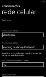 Como ativar e desativar uma rede de dados - Nokia Lumia 1020 - Passo 6