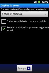 Como configurar seu celular para receber e enviar e-mails - Huawei U8667 - Passo 16