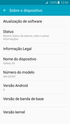 Como encontrar o número de IMEI do seu aparelho - Samsung Galaxy S6 - Passo 4