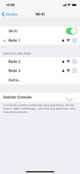Como configurar uma rede Wi-Fi - Apple iPhone X - Passo 6