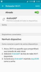Como usar seu aparelho como um roteador de rede Wi-Fi - Samsung Galaxy J2 Duos - Passo 10