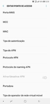 Como configurar a internet do seu aparelho (APN) - Samsung Galaxy J8 - Passo 14