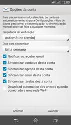 Como configurar seu celular para receber e enviar e-mails - Sony Xperia E4G - Passo 6