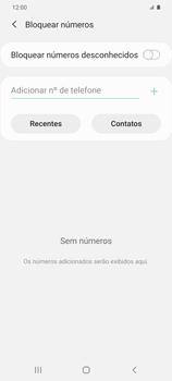 Como bloquear chamadas de um número específico - Samsung Galaxy S20 Plus 5G - Passo 8