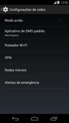 Como ativar e desativar uma rede de dados - Motorola Moto E (1ª Geração) - Passo 4
