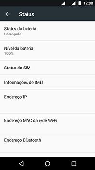 Como encontrar o número de IMEI do seu aparelho - Motorola Moto Z2 Play - Passo 5