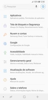 Como encontrar o número de IMEI do seu aparelho - Samsung Galaxy S9 - Passo 3