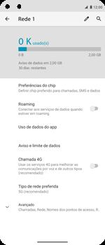 Como definir um aviso e limite de uso de dados - Motorola Moto G 5G Plus - Passo 5