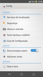 Como restaurar as configurações originais do seu aparelho - Sony Xperia SP - Passo 4