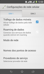 Como ativar e desativar uma rede de dados - Sony Xperia E1 - Passo 5