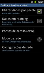Como ativar e desativar uma rede de dados - Samsung Galaxy S II - Passo 5