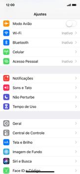 Como encontrar o número de IMEI do seu aparelho - Apple iPhone X - Passo 2