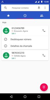 Como bloquear chamadas de um número específico - Motorola Moto G6 Play - Passo 7