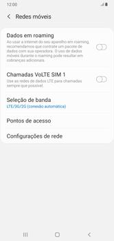 Como ativar e desativar o roaming de dados - Samsung Galaxy A10 - Passo 5