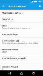 Como encontrar o número de IMEI do seu aparelho - Sony Xperia M4 Aqua - Passo 4