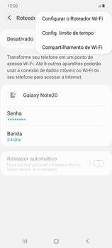 Como usar seu aparelho como um roteador de rede Wi-Fi - Samsung Galaxy Note 20 5G - Passo 7