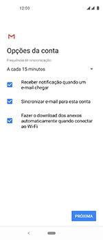 Como configurar seu celular para receber e enviar e-mails - Motorola One Vision - Passo 10